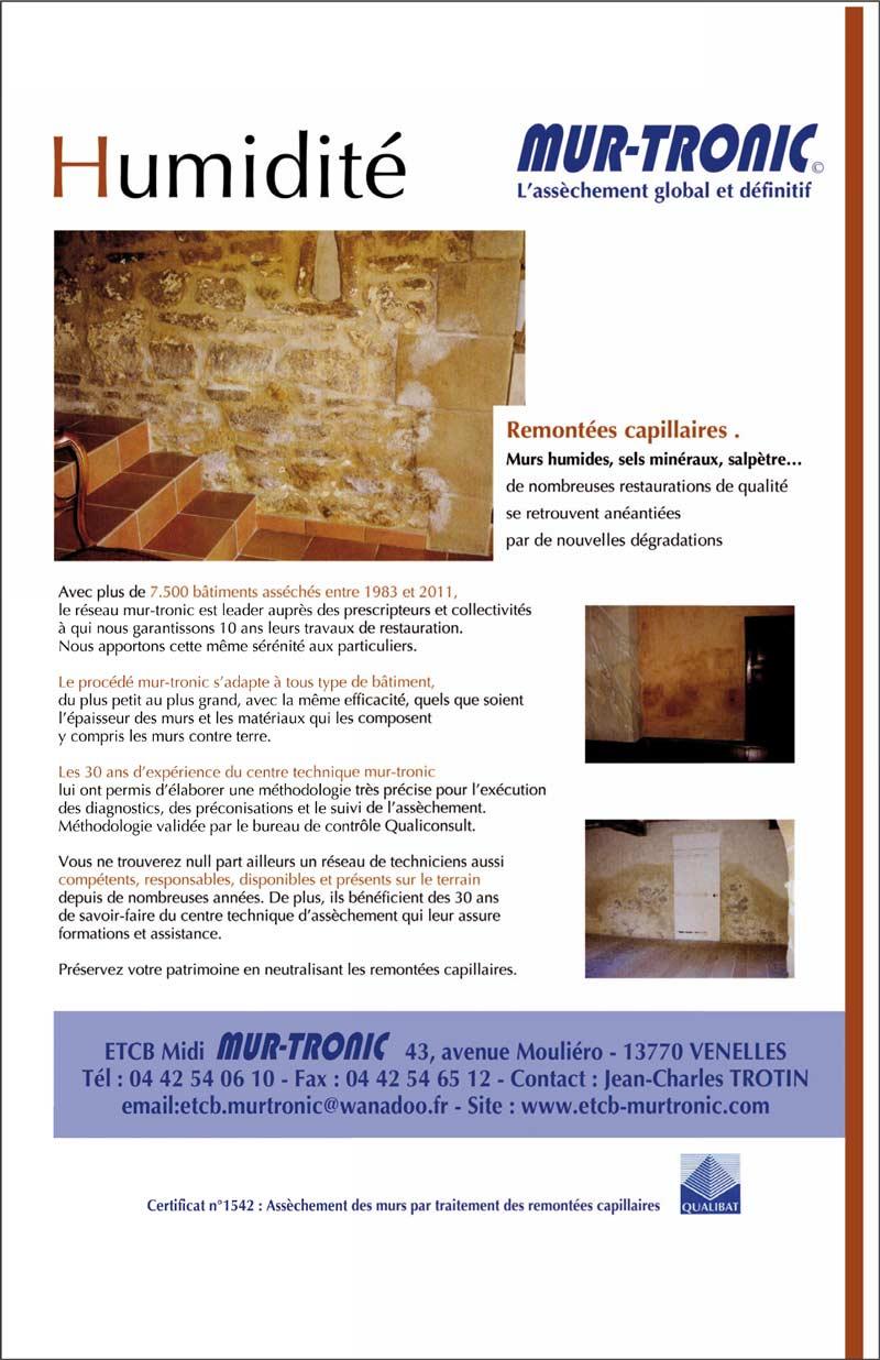 traitement de remont e capillaire etcb midi mur tronic aix en provence. Black Bedroom Furniture Sets. Home Design Ideas